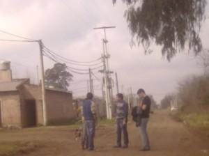Felice por los barrios de Chacabuco.