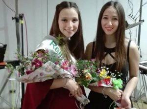 Gianna y Cirulli junta a Felicitas Engwerda.