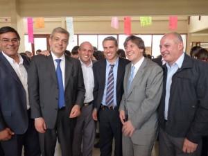 El Intendente Municipal hoy junto a los ministros de Economía y Agricultura de la Nación.