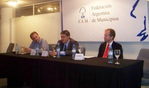 Golía en el Auditorio de la Federación Argentina de Municipios.