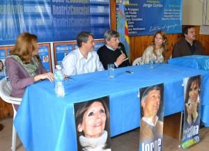 Golía recorrió la cuarta sección electoral dándoles el apoyo a los candidatos locales.