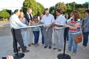Golía deja inaugurado pavimento en Hipólito Yrigoyen y calle Fages de Chacabuco.
