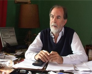 González Fraga, compañero de formula de Ricardo Alfonsín.