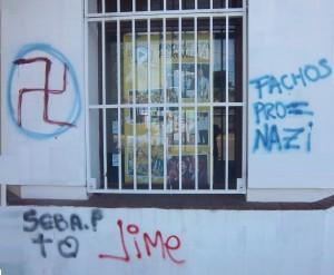 Frente pintado del local de Propuesta Peronista de Chacabuco.