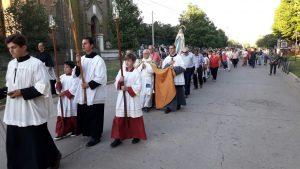 Precesión en honor a la Virgen de la Inmaculada Concepción.