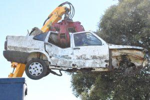 Comenzó el plan de compactación de automóviles