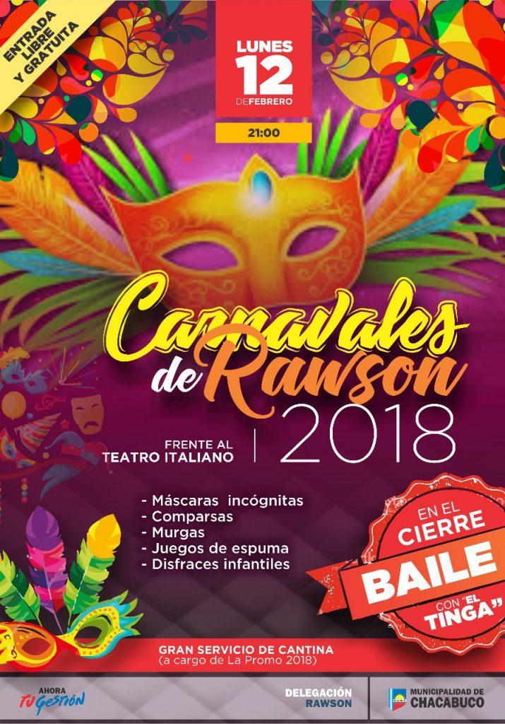Carnavales en Rawson 2018.
