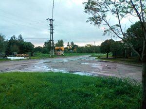 Intersección de avenidas Vieytes y Chacabuco y calle O´Higgins, luego de las últimas lluvias. Lugar dónde solía quedar el agua de lluvia estancada.