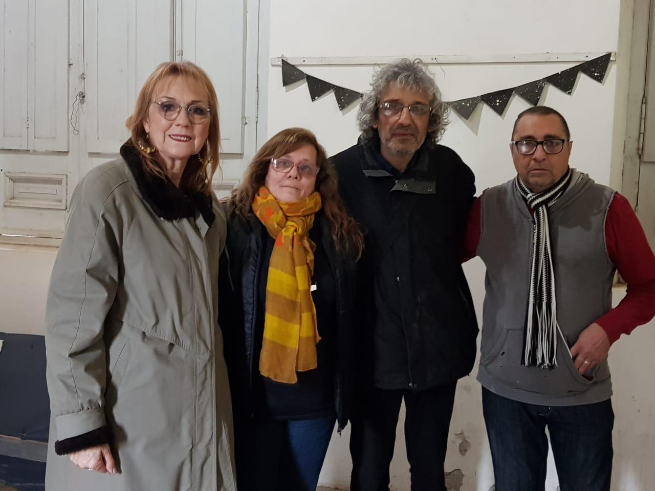 Ricardo Soule y Kotata junto a sus esposas.