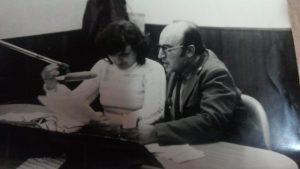Obdulio Schettino junto a Rita Nascimbene.