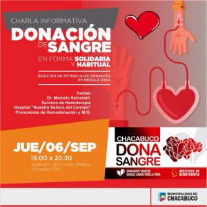 Charla sobre donación de sangre
