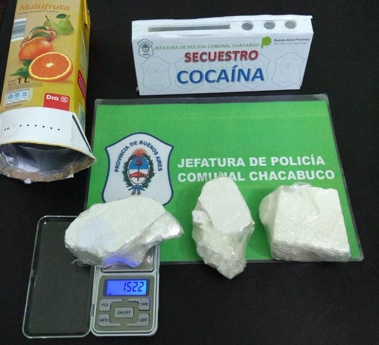 La cocaína secuestrada
