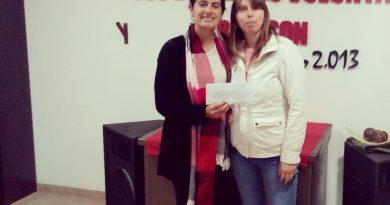Florencia Papini junto a Maira Fernández.