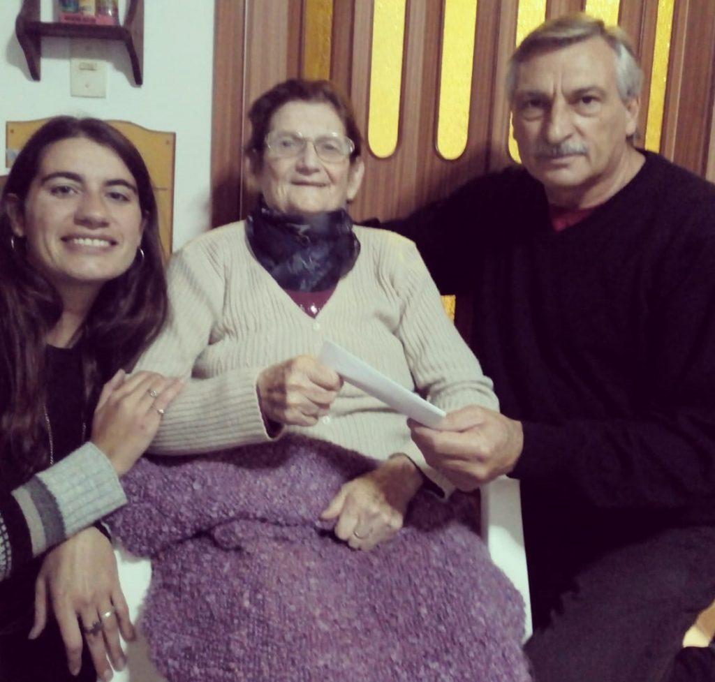 Florencia Papini, Francisca Sánchez y Aimoré Papini.