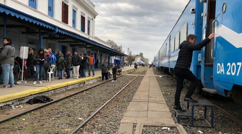 Llegada del Tren Sanitario en Chacabuco