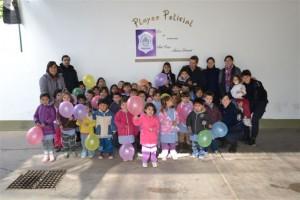 Niños del Jardín Nº 904 realizaron visita guiada a la Comisaría de Chacabuco.