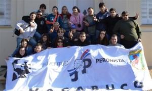 Integrantes de la Juventud Peronista de Chacabuco en Castilla.