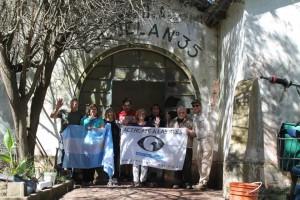 Integrantes del COA Chingolo Rawson en la futura Estación Biológica y colaboradores.
