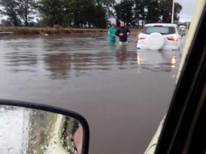 La lluvia vuelve a traer problemas.