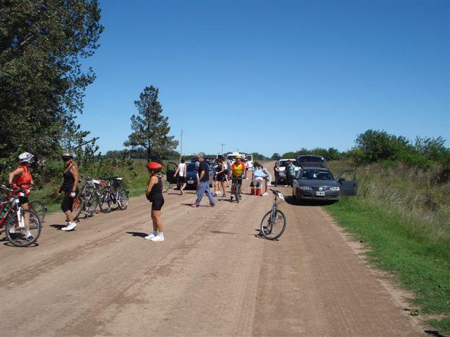 Una parada para descansar en Ruta Provincial 42.