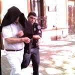 Manzanares cuando quedó detenido en marzo de 2009. Foto: juninya.com.ar