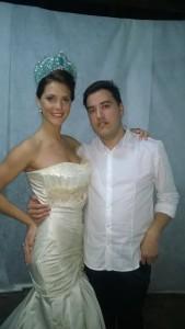 Quintana en su último evento, Miss Cultura y Paz internacional Argentina 2015 junto a la Miss Internacional.