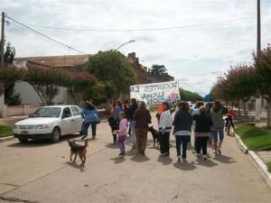 Los docentes se concentran en la Plaza San Martín.