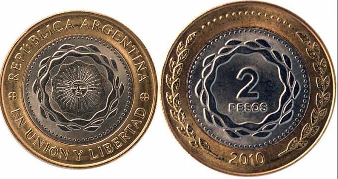 Monedas de dos pesos desde el lunes 12 de diciembre.