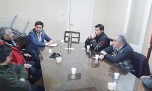 Los candidatos del Frente Renovador con el Comercio e Industria.
