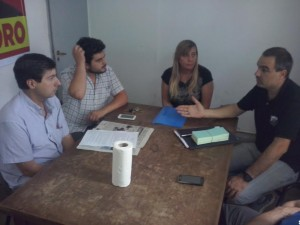 Moro e Iglesias se reunieron con funcionarios Municipales