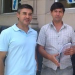 Concejales del Frente Renovador  Aldo Iglesias y Hugo Moro.