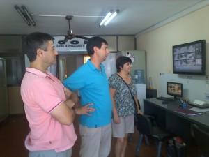 Concejales del Frente Renovador el centro de Operaciones y Monitoreo de Chacabuco.