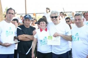 """Barrientos participó de la Maratón """"Todos por todo"""" en Chacabuco."""
