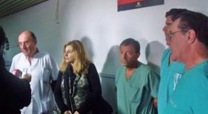 La intendenta Marta Médici confirmando la noticia.