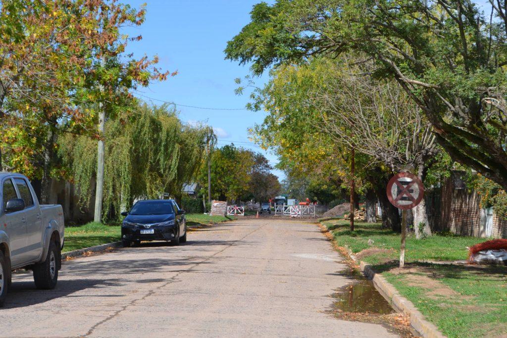 Calle San Martín hacia avenida Vieytes. Cortada al tránsito