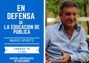 Mario Oporto llegará a Chacabuco.