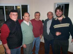 Obdulio Schettino junto a integrantes de LT36 Radio Chacabuco.
