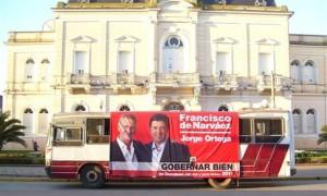El Candidato a Intendente Jorge Ortega recorrió las plazas de Chacabuco y la rotonda del Acc. H. Yrigoyen en el ORTEMOVIL.
