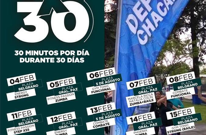 Vuelve el programa 30x30 Chacabuco se Mueve