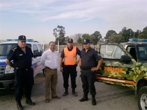 Speranza junto a los Jefes Policiales.