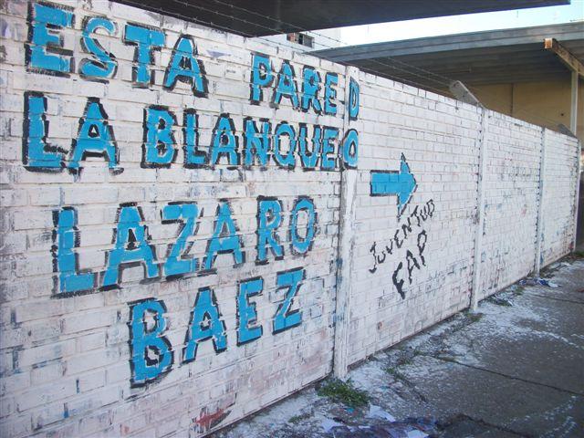 7.6.13- Pintada realizada por integrantes de la Juventud del Frente Amplio Progresista en Chacabuco.