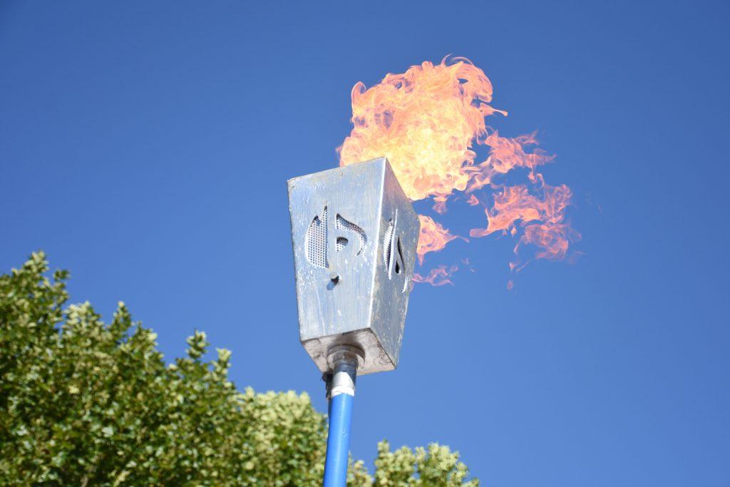 Con la llama Votiva se dejó inaugurada la obra de gas en Rawson