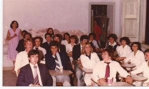 Promoción 1980 en el aula.