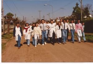 Promoción 1992 al finalizar el ciclo lectivo.