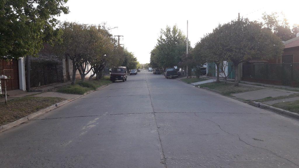 7/2/18- La imagen corresponde a avenida Chacabuco, desde calle San Martín hacía Ituzaingó.