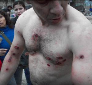 Represión en Salta.