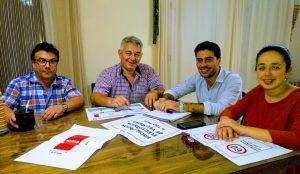 Integrantes de Ciudad Creativa con Mauricio Barrientos