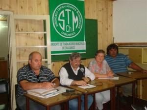 Reunión en el Sindicato de Trabajadores Municipales de Chacabuco.