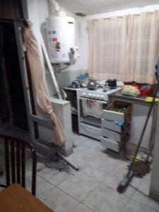 Imagen de los destrozos dentro de la propiedad de Terrile.