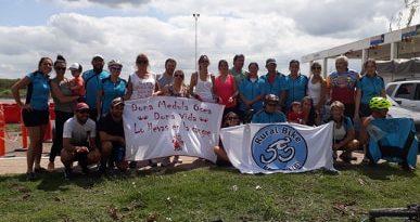 Imagen de los ciclistas en Luján